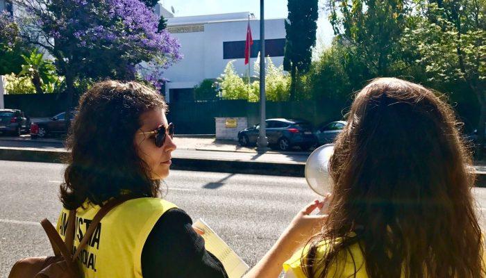 Amnistia Portugal faz ouvir cartas em defesa de Eren Keskin à embaixada da Turquia em Lisboa