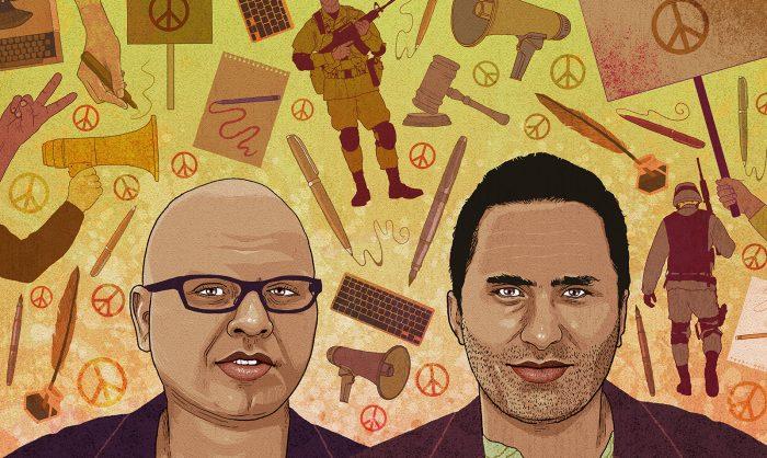 Farid al-Atrash e Issa Amro: Enfrentam acusações por protestarem contra crimes de guerra