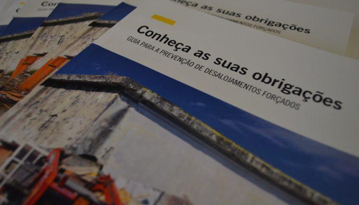 Amnistia entrega manuais às autarquias para prevenir desalojamentos forçados
