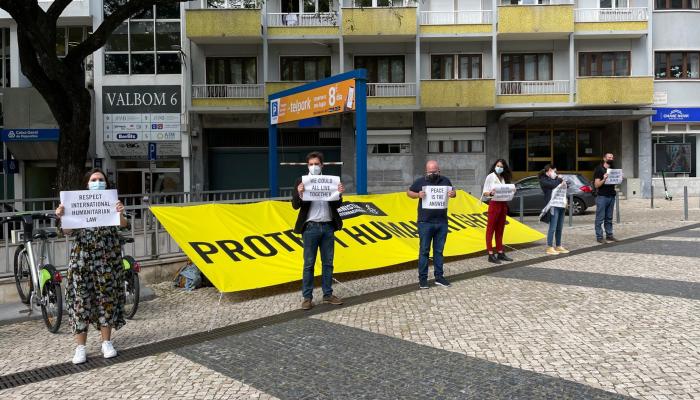 Ação de rua pelo fim da violência armada e ilegal
