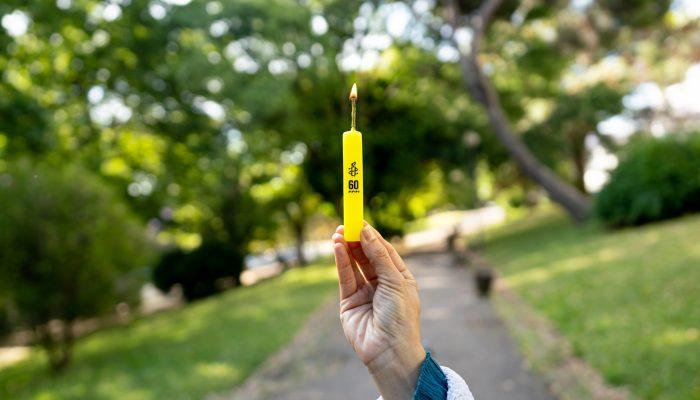 Celebramos 60 anos com vela que nunca se apaga